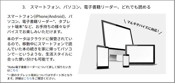 楽天koboの対応デバイス